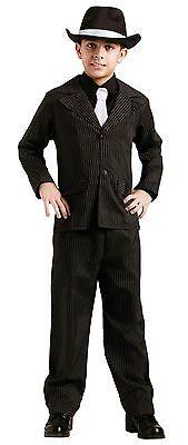 Boys Gangster Suit Costume Pinstripe Mobster Mob Boss Mafia 20s Child Kids S M L