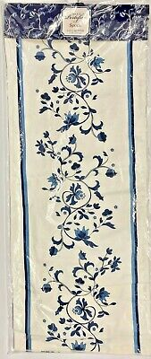 "Spode Blue PORTOFINO 72"" Table Runner - New in Package"