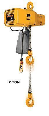 Harrington Er Electric Chain Hoist 2 Ton Capacity