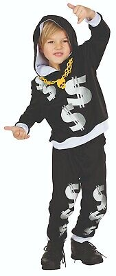 Rubies 12316 - Rapper Anzug, Kinder Kostüm, Hip Hop Star, Gr. 116 - 152