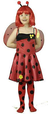 Kinder Marienkäferkostüm Käfer Kleid Karneval Fasching (Marienkäfer Kostüm)