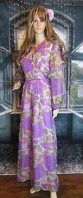 Sears Hawaiian Fashions Vintage 60's Mod Floral Pantsuit Dress Beautiful