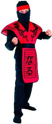 Rotes Ninja-Drachen Kostüm für Jungen Cod.221979 ()