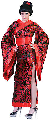 Kim Kimono Geisha Adult Womens Costume Japanese Robe Asian Theme Party Halloween