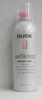 RUSK W8LESS SPRAY GEL Medium Hold Shaping & Control Aerosol Gel ~ 150 g / 5.3 oz - Hold Shaping Spray