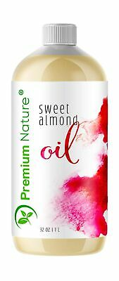 Sweet Almond Oil Best Carrier Oil - 32 oz 100% Natural Pure for Skin & Hair