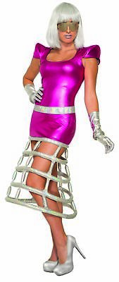 Space Empress Adult Women's Costume Metallic Pink & Silver Dress XS/SM 2-6 (Space Costumes For Women)