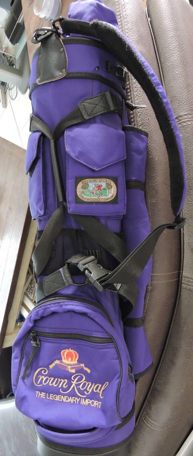 Photo Belding Original GB-905 Bushwhacker Golf Bag Purple Crown Royal Limited Edition