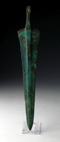 *SC*  AN ATTRACTIVE TANGED BRONZE DAGGER, ANCIENT WESTERN ASIA!!