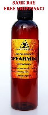 SPEARMINT ESSENTIAL OIL by H&B Oils Center AROMATHERAPY 100% PURE 4 OZ