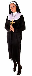 New-Nun-Sound-of-Music-Clergy-Halloween-Fancy-Dress-Costume-Plus-Size-P7319