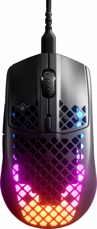 SteelSeries 62599 Aerox 3 Wired Optical PC Gaming Mouse - Black - Certified