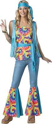 Adult Hippie Tie Dye 60s Groovy Mod  Go Go Costume (Tie Dye Hippie Kostüm)