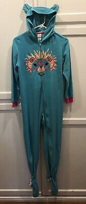Teen Footie Pajamas (CIRCO Teen Girls Sz L (10-12) Blue Lion Fleece Footie)