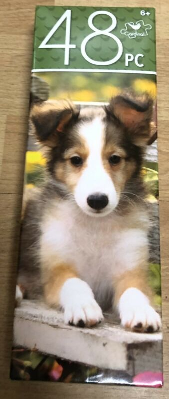 "48-Pc 10.3"" X 9.1"" Cute Sheltie Shetland Sheepdog Puppy Dog Puzzle Ages 6+"