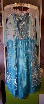 ❄ Elsa Kleid Kostüm Eiskönigin Fasching Verkleiden Kinder Mädchen ❄ (Verkleidung Elsa Kostüm)