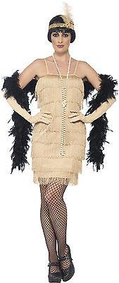 20er Jahre Marta Flapper Kostüm gold NEU - Damen Karneval Fasching Verkleidung K