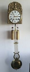 Comtoise Wall Clock Mini 8 Day SBS Movement Bell Strike Vintage German