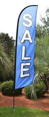 VENTA Spanish Sale Swooper Banner Feather Flutter Bow Tall Curved Top Flag
