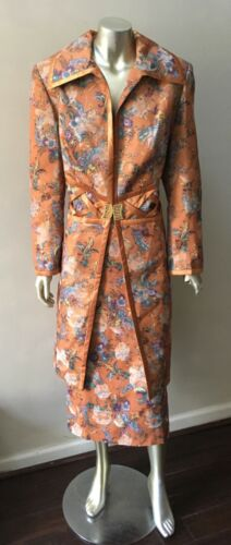 Couture 2 pc Jacquard floral Paisley formal Midi Long Jacket Party Skirt Suit 12