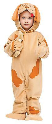 Child Puppy Dog Costume Jumpsuit Brown Infant Toddler 6-12 Months Kids Halloween - Toddler Dog Costume Halloween