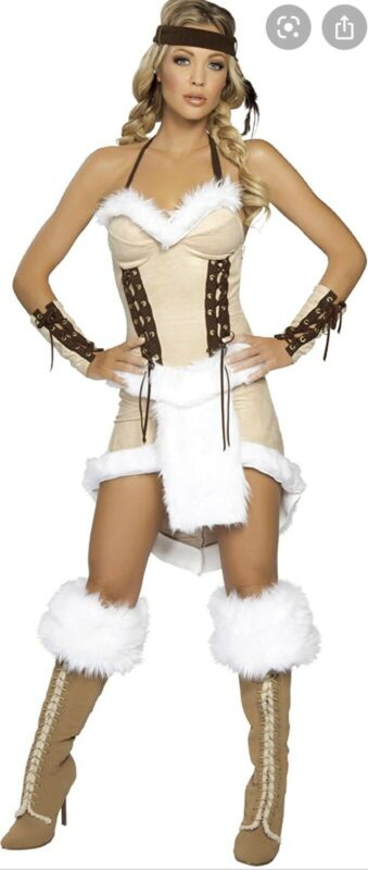 Roma 3-Piece Indian Maiden Sexy Women's Halloween Costume Size M/L New