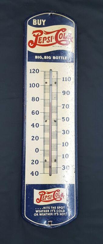 1932 Buy Pepsi:Cola Double Dot Big Big Bottle Wall Thermometer