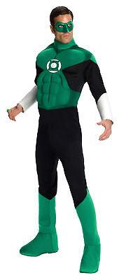Green Lantern Deluxe Muskel Brust Erwachsene Herren Kostüm Halloween