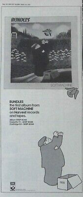 SOFT MACHINE : Bundles - Large NEWSPAPER ADVERT - 1975 40cm x 17cm for sale  Shipping to Nigeria