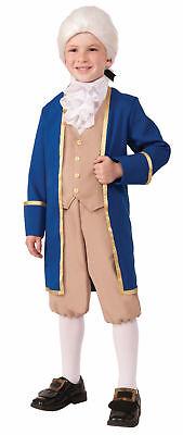 George Washington Child Costume Uniform Boys Historical Pioneer Colonial - Boys Pioneer Costume