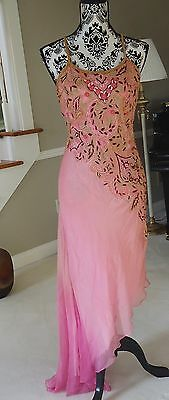 FLAPPER ROARING 20's GATSBY DECO EMBROIDERY BEADED Gown Dress Medium  Fabulous