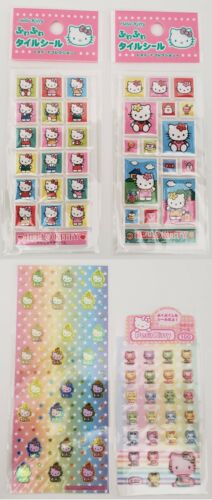Vintage Sanrio Hello Kitty PASTEL RAINBOW PRISM PUFFY Stickers Sheets