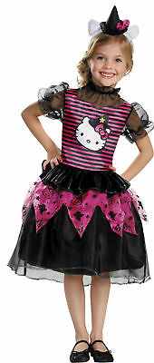 Hello Kitty Witch Classic Child Costume Dress Pink Black Disguise Girl - Classic Hello Kitty Kostüm