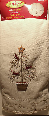 TRADITIONAL CHRISTMAS TREE SKIRT Country Classic Old-Fashioned Decoration NEW