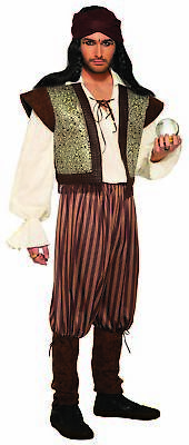 Gypsy Costumes For Men (Woodland Fortune Teller Mystic Gypsy Peasant Ali Baba Adult Men's Costume)
