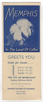 1940S Memphis Tennessee Travel Brochure Tourism Land Of Cotton Chamber Commerce
