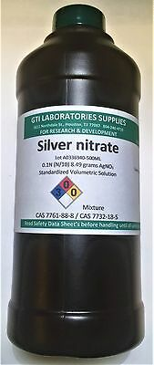 Silver Nitrate 0.1n N10 Standardized Volumetric Solution 500ml
