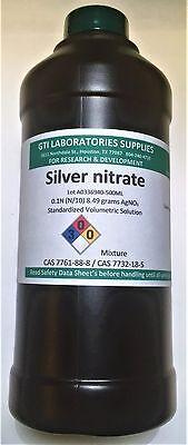 Silver Nitrate 0.1n N10 Standardized Volumetric Solution 500ml