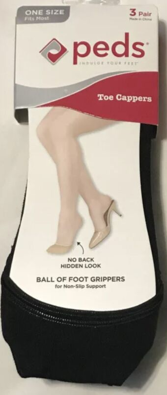 PEDS 3 Pair. Toe Cappers. Ball of Foot Grippers.. One Size Fits Most.. NEW!
