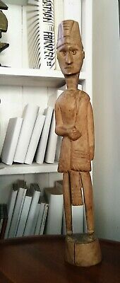 Early 20th C. carved ancestor figure from Sumbawa Island Indonesia 35cm