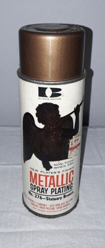 ILLINOIS BRONZE METALLIC SPRAY PAINT CAN WITH PAPER LABEL EMPTY 1964