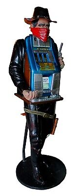 Vintage Hand Carved Bandit Character Slot Machine  1947 25Cent Special Award 777