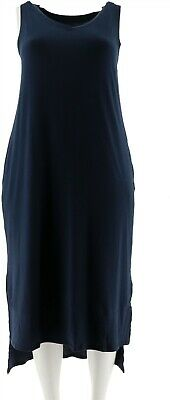 AnyBody Loungewear Cozy Knit Maxi Tank Dress Navy XL NEW A286595