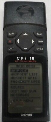 Garmin GPS 12 Handheld Personal Navigator GPS Receiver 30 DAY WARRANTY 0512-02