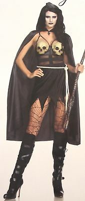 Leg Avenue Death Dealer Small Sexy Halloween Costume Cosplay 85444 Dress Cape](Halloween Costumes Death)