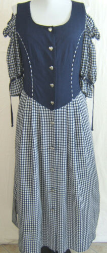 Authentic Folk Line Off Shoulder Trachten Dirndl Dress Oktoberfest EU 38? US 8?