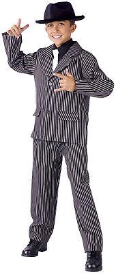 Gangster Male Child Boys Costume Pinstripe Jacket Halloween Dress Up Funworld