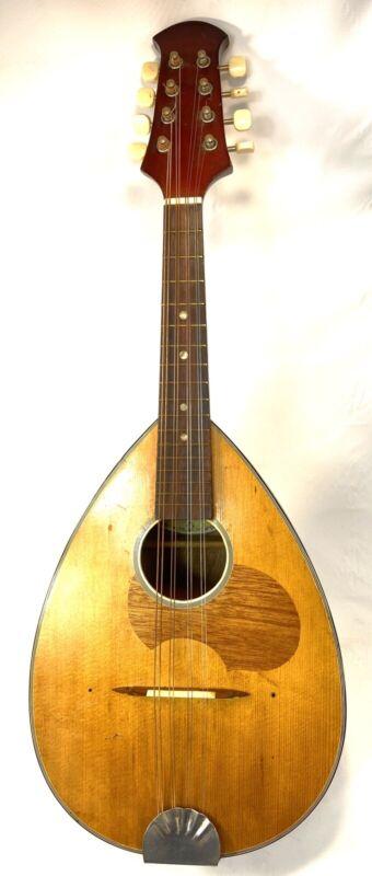 Vintage RARE Suzuki Vintage Flat Back Mandolin - 1971 - No. 601 with Case Nice!