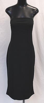 Boohoo Women's Plus Bandeau Fitted Midi Dress BE9 Black Size UK:22 US:18 NWT