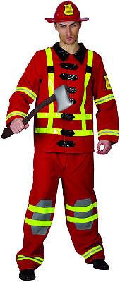 Feuerwehrmann-Kostüm für Herren Beruf und Uniform rot - Feuerwehrmann Kostüm Für Herren